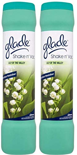 2 x Glade Shake 'n' Vac Lily Of The Valley Carpet Cleaning Powder 500gm by Glade