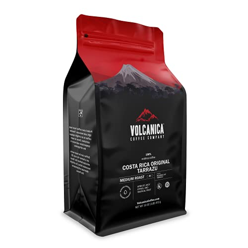 Costa Rica Coffee, Tarrazu Original, Whole Bean, Medium Roast, Fair Trade, Fresh Roasted, 16-ounce