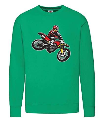 Druckerlebnis24 Pullover - Springen Enduro Motocross Motorrad - Sweatshirt für Herren und Männer