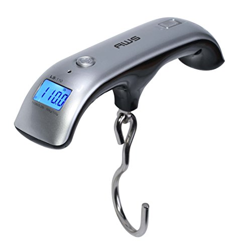 LS-110 Digital Hanging Luggage Scale for Traveling or Weighing Suitcases, 110lbs x 0.2lbs, LS-110