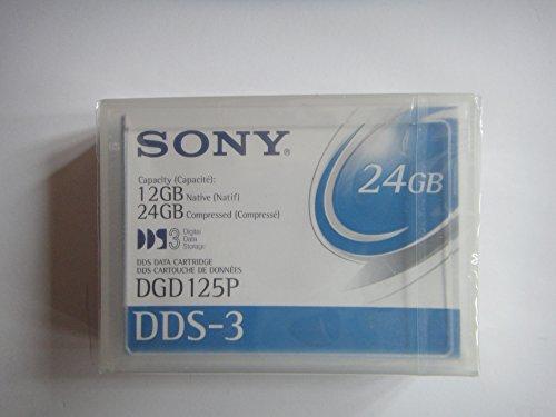 Sony Electronics4 Millimeter DDS Data Cartridge, 125M, DDS3, 12GB/24GB Unidad de Disco óptico