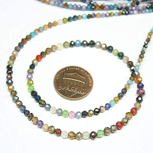 LOVEKUSH LKBEADS Multi Zircon Micro Al sold out. Special price for a limited time Loose Rondelle Faceted Ronde