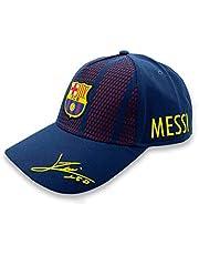 Pet 10 Messi met handtekening Junior FC Barcelona 2018-2019 - gelicentieerd product - maat volwassen maat - 100% polyester