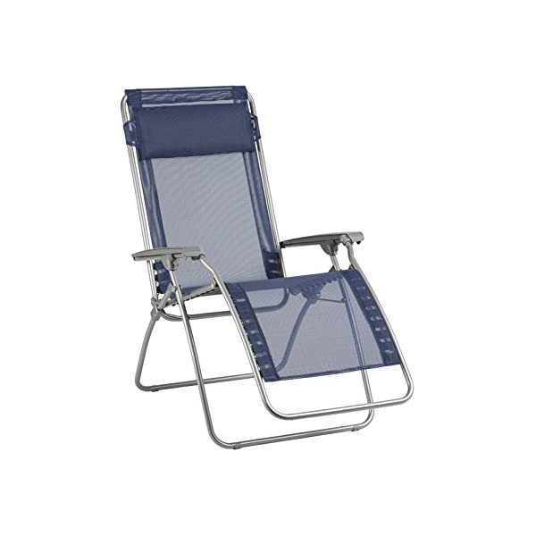 Lafuma Adjustable R Clip Zero Gravity Garden Chair Ocean Blue