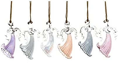 Lenox Blown Glass Angel Ornaments, Assorted Colors, Set of 6