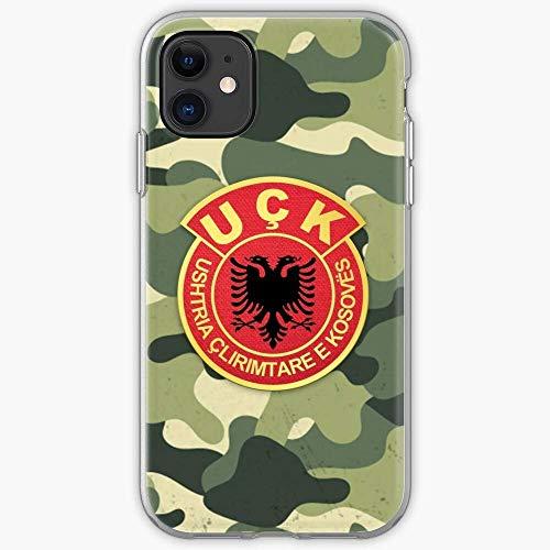 Compatibile con iPhone 12/11 Pro Max 12 mini SE X/XS Max XR 8 7 6 6s Plus Custodie Kuq E Flamuri Zi Old Shqiptar Shqiperia Albania Eagle Shqipni Custodie per Telefoni Cover