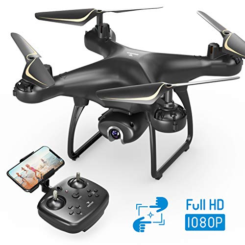 SNAPTAIN SP650 Drone avec Caméra 1080P Full HD 120° Grand Angle Réglable, WiFi Transmission en...