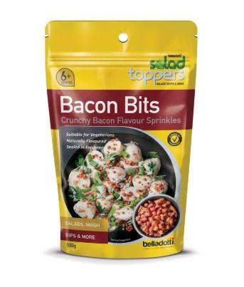 NT# Belladotti Salataufsätze, knuspriger Speckgeschmack, 100 g, Salataufsätze sind eine köstliche, schnelle und bequeme Möglichkeit, Ihren Salaten Geschmack und Knacken hinzuzufügen