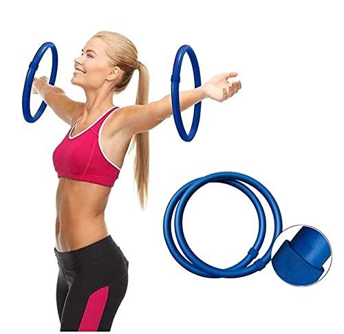 OLLM Mini Hula Hoop,Upgrade Arm Hula Hoop Reifen Set mit Schaumstoffüberzug, 2 teilig, je 0,35kg,nachhaltige Stärkung der Schulter- und Armmuskulatur-meerblau