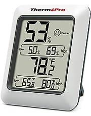 ThermoPro TP50 Digitale thermo-hygrometer, voor binnen en buiten, temperatuur- en vochtigheidsmeter voor klimaatbeheersing en luchtbewaking, klimaatmonitor