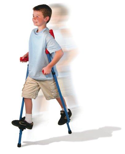 Geospace Original Walkaroo Stilts by Air Kicks (Steel) with Ergonomic Design for Easy Balance Walking (Blue)