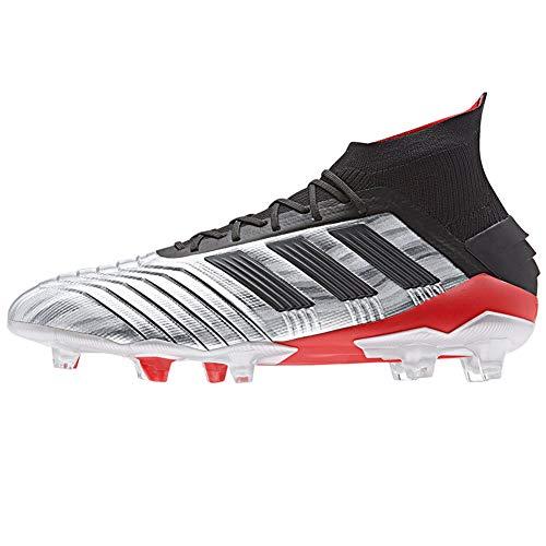 adidas Predator 19.1 FG Soccer Cleats (Men's) (8.5, Silver/Black)