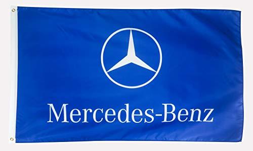 N Cents Flagge aus Polyester, 91 x 152 cm, Banner für Mercedes Benz Traditioneller Fan-Benz-Logo, Auto-Fans mit Messingösen, 91 x 152 cm