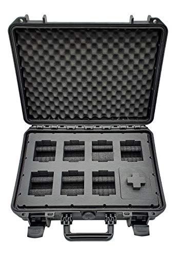 MC-CASES® - Caja para Relojes con Espacio para 8 Piezas - Maletín de Viaje Impermeable y con un Cierre Seguro - Máxima protección - Fabricada en Alemania
