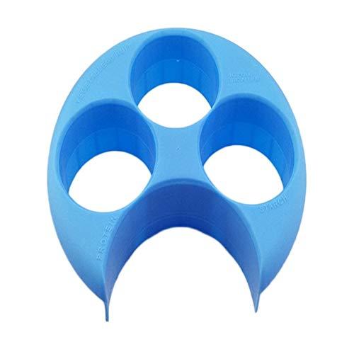 Healthy Weightloss Meal Measure Plate Perfekte Portion Gewichtskontrolle Plate Diet Tool zum Abnehmen Naturalize Manage - Blau