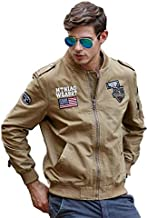 H.T.Niao Imported Jacket for Men Winter Camouflage Military Design Army Style Cotton Casual Slim Fit Stand Collar Coat Latest Fashion (8526 Khaki)