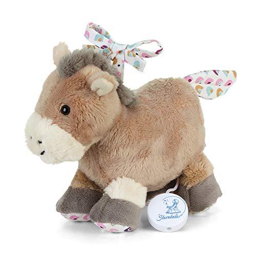 Sterntaler 6002003 Spieluhr, Stofftier Pony Pauline, Austauschbares Spielwerk, Größe: S