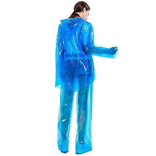 Wegwerp regenjas regenbroek pak met lange Broeken Schoenen waterdicht ontwerp stofdicht Loose Veiligheid Closed Design (10 Packs)