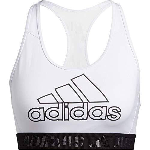 adidas Frauen DRST BOS B Trainings-BH - mittlere Unterstützung, White/Black, XS