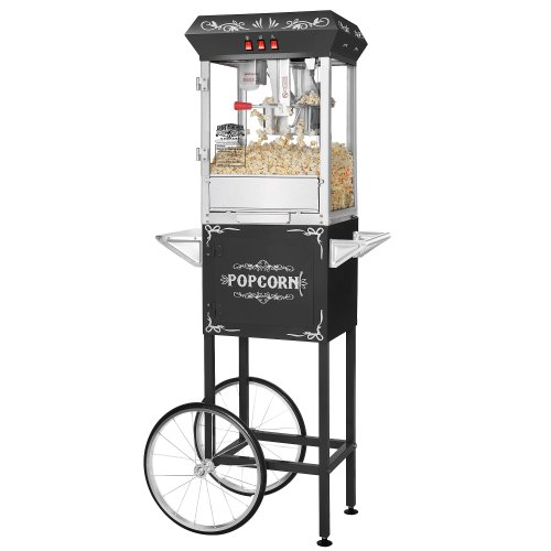 For Sale! Great Northern Popcorn Black 8 oz. Ounce Foundation Vintage Style Popcorn Machine and Cart