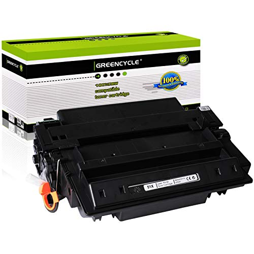 GREENCYCLE Compatible Toner Cartridge Replacement for HP 51X Q7551X Use for Laserjet P3005 P3005D P3005N P3005DN P3005X M3035MFP M3035XS MFP M3027MFP M3027XMFP (High Yield, Black, 1-Pack)