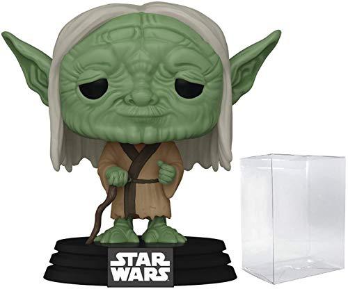 Funko Figura de vinilo de Yoda (incluye funda protectora compatible con caja de pop) de Pop! Star...