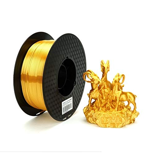 SRY-Holster HH-DYHC, 1pc Silk Silver PLA Filament 1.75mm 500g 3d Printer Filament Silky Shine 3d Pen Printing Materials Shiny Metal Metallic (Color : Silk Gold)