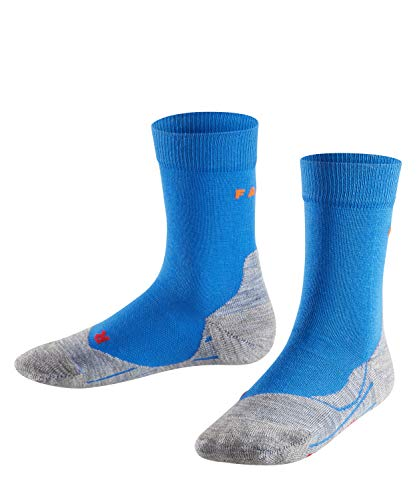 FALKE Unisex Kinder 10634 FALKE Kinder Laufsocken RU4 Sportsocken mit Baumwolle 1 er Pack, Blau (Cinque Terre 6524), 9-12 Jahre EU