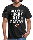 Dieu Créa Le Rugby T-Shirt Homme, XXL, Noir