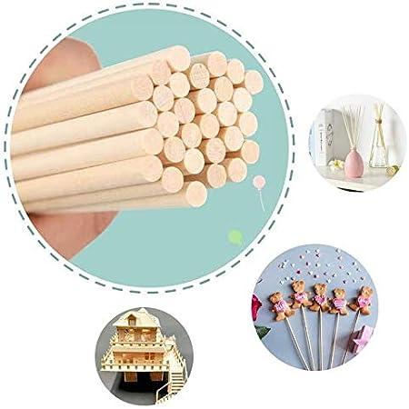 LINGLAN Lot de 50 bâtonnets en bois pour diffuseur d'huile en bambou et rotin (20cm/6mm)
