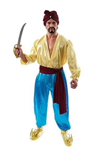 ORION COSTUMES Costume de déguisement de marin arabe inspiré du film et de la tenue de Sinbad le pirate pour hommes