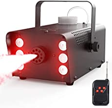 Fog Machine, Theefun 500W 6 LED Lights Smoke Machine with 2500CFM Fog, 7 Colors & Strobe Effect Hallowen Fog Machine with Wired and Wirelss Remote Control for Halloween Wedding Party and Stage