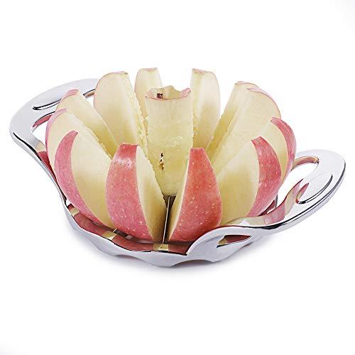 Newness Apfelschneider, Apfelteiler mit 12 Klingen und Ergonomic Grip Handle, Apfelschäler Obstschneider Apfelportionierer Apfelausstecher, ideal für Äpfel und Birnen