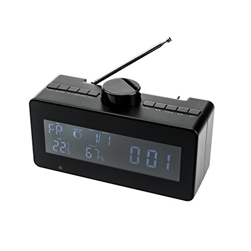 KOBERT GOODS Wetterstation DV80 mit manuell drehbarer HD-Überwachungskamera sensorgesteuerte Aufnahme Foto-, Video und Tonaufnahmen in HD mit SD-Kartenslot, USB-Schnittstelle & U-Disk-Nutzung