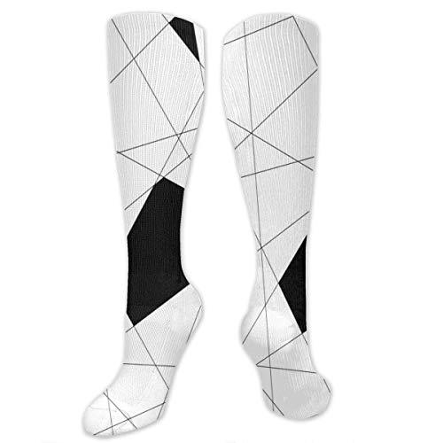 zhouyongz Medias geométricas atléticas del tubo de las mujeres hombres deporte calcetines
