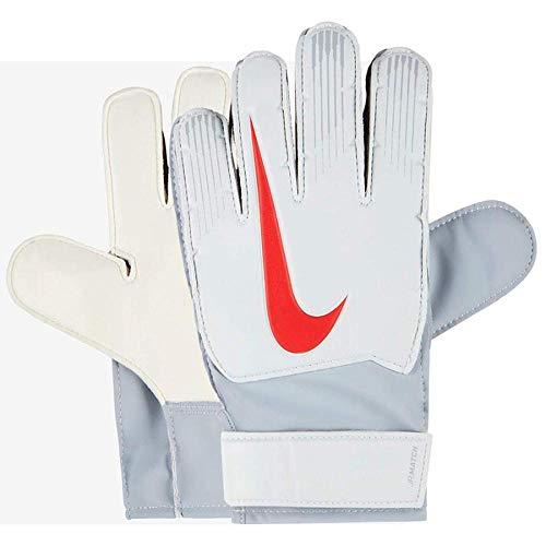 Nike Kinder Match Torwarthandschuhe, Pure Platinum/Wolf Grey/(Light Crimson), 8 (11.5-12 cm)