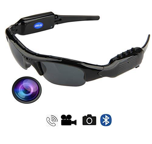 CCVV draagbare Bluetooth-zonnebril, camera glazen, Full HD 1080P voor sport buitenshuis rijden, paardrijden, vissen, motorfiets