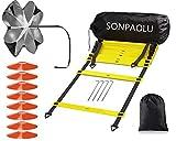 SONPAOLU Agility Ladder & Speed Cones Training Set, for Speed Agility Training &...