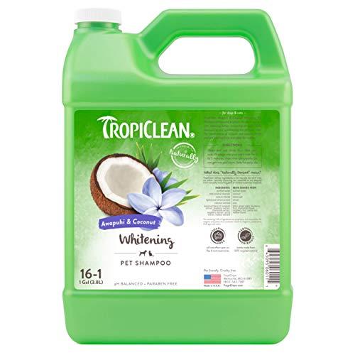 TropiClean Awapuhi & Coconut Whitening Shampoo für Haustiere, 3,78 Liter, hergestellt in den USA