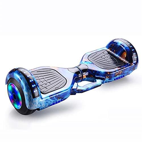 A-myt Iluminación LED autoequilibrante Scooter galvanizante con sobresalientes para niños para niños y Adolescentes, con Altavoz Bluetooth y LED débil Poderosa motivación (Color : Blue Phoenix Tail)