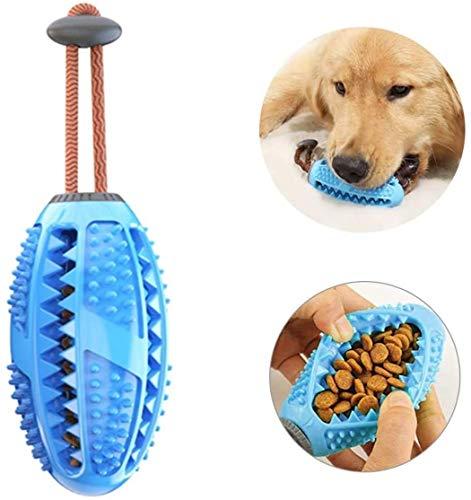 BTkviseQat - Cepillo de dientes para perros, juguete para masticar, pelota, dispensador de golosinas para perros, cuidado dental, cepillos y juguetes para masticar, caucho natural no tóxico