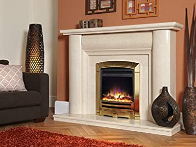 "New Designer Celsi Fire - Hearth Mounted Electric Fire 16"" Electriflame XD Decadence Gold"
