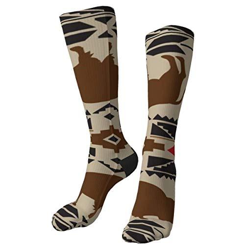 iuitt7rtree Patrón Nativo Americano No FSV Calcetines Gruesos y cálidos Personalizados Calcetines de Vestir a Media Pierna Calcetines Largos de Invierno Casuales para Hombres y Mujeres