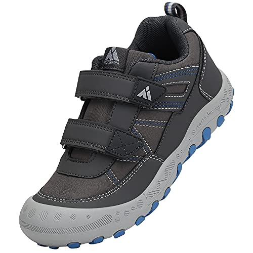 Mishansha Scarpe Bambino Sportive Scarpe da Trekking Ragazzi Scarpe da Montagna Impermeabile Antiscivolo Scarpe da Escursionismo Grigio Gr.38