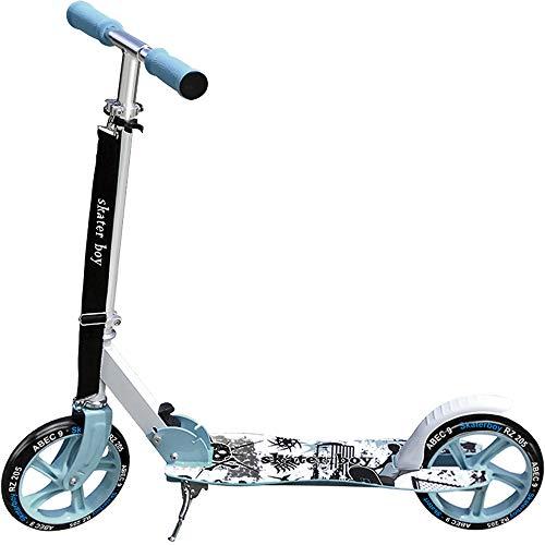 """MONOPATTINO \""""Skater Boy\"""" – moderno e pieghevole (incl. tracolla) freno a frizione posteriore e cavalletto altezza regolabile-manubrio pieghevole in acciaio design moderno ruote in PU"""