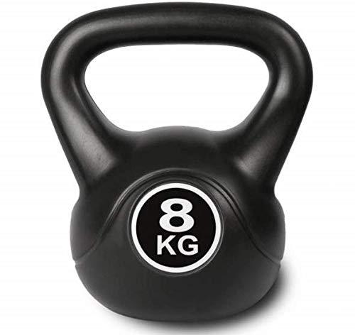 Kettlebell schwarz Kugelhantel für Krafttraining Crossfit Fitness (verfügbar in 6 kg - 16 kg) (8)