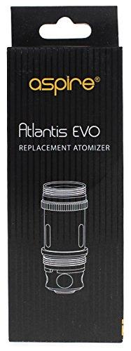 Aspire (Atlantis) EVO Heads (5 Stück pro Packung) 0,4 Ohm oder 0,5 Ohm - für die Triton- oder Atlantisserie (0,5 Ohm)
