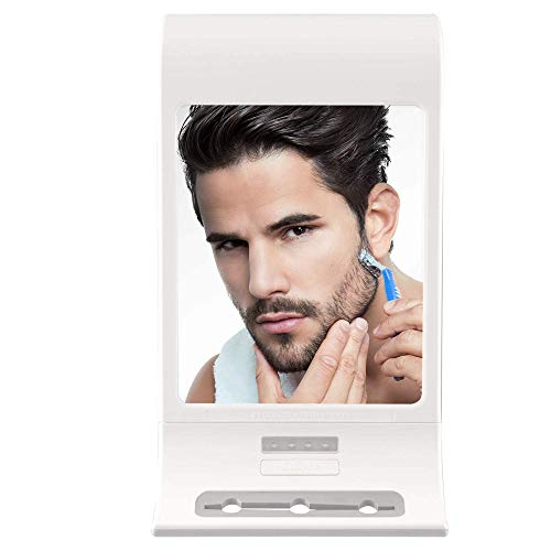 Zadro Fogless LED Lighted Shower Mirror for Fog Free Shaving with Secure...