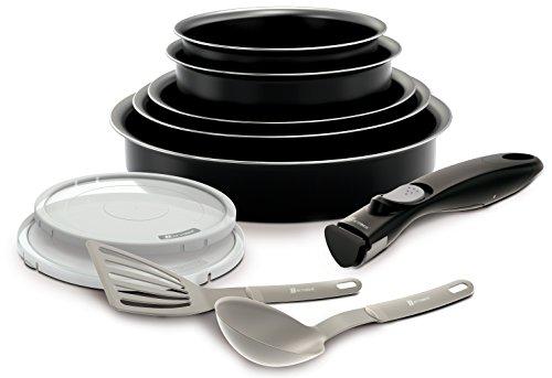 Backen 181001 -Set de poêles et casseroles -10 Pièces Noir -Tous feux dont induction,30 x 35 x 14 cm