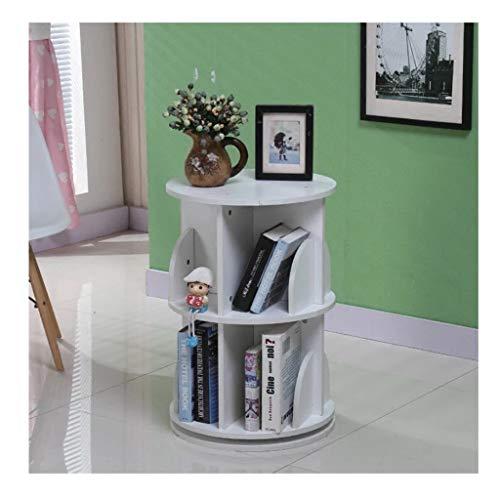 YNFNGXU 360 ° drehbares Bücherregal, einfaches Eck-Bücherregal, 2-lagiger Vitrinenschrank aus massivem Holz for Wohnzimmer und Schlafzimmer (Color : B)